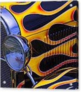 1929 Model A 2 Door Sedan With Flames Acrylic Print