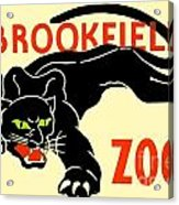 1930 - Brookfield Zoo Poster - Boston - Color Acrylic Print