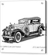 1931 Cadillac Phaeton Acrylic Print by Jack Pumphrey