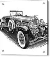 1930 Duesenberg Model J Acrylic Print by Jack Pumphrey