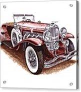 1930 Dusenberg Model J Acrylic Print