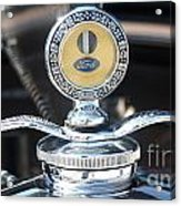 1930 Ford Model A - Hood Ornament - 7488 Acrylic Print