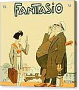 1931 - Fantasio French Magazine Cover - September - Color Acrylic Print