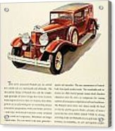 1931 - Packard - Advertisement - Color Acrylic Print