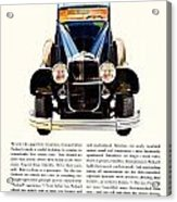 1931 - Packard Automobile Advertisement - Color Acrylic Print