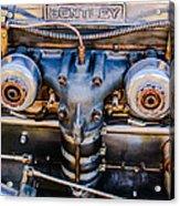 1931 Bentley 4.5 Liter Supercharged Le Mans Engine Emblem Acrylic Print