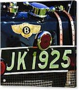1931 Bentley 4.5 Liter Supercharged Le Mans Taillight Emblem Acrylic Print