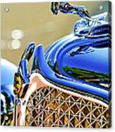 1931 Chrysler Cg Imperial Dual Cowl Phaeton Hood Ornament - Grille Acrylic Print