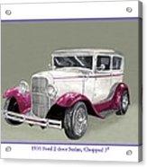 1931 Ford 2 Door Sedan Street-rod Acrylic Print