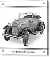 1931 Ford Convertible Acrylic Print by Jack Pumphrey
