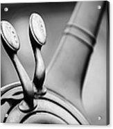 1931 Lincoln K Steering Wheel - Spark - Gas Controls -1865bw Acrylic Print