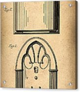 1931 Philco Radio Patent Acrylic Print