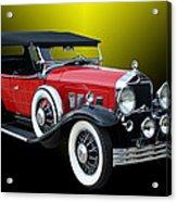 1931 Willys Knight Plaid Side Acrylic Print