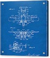1932 Amphibian Aircraft Patent Blueprint Acrylic Print
