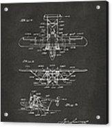 1932 Amphibian Aircraft Patent Gray Acrylic Print