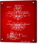 1932 Amphibian Aircraft Patent Red Acrylic Print