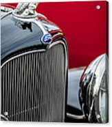 1932 Ford V8 Grille - Hood Ornament Acrylic Print