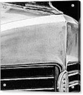 1932 Marmon Sixteen Lebaron Victoria Coupe Hood Ornament - Grille Emblem - 1904bw Acrylic Print