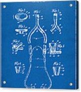 1932 Medical Stethoscope Patent Artwork - Blueprint Acrylic Print