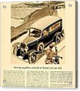 1933 - Chevrolet Commercial Automobile Advertisement - Old Gold Cigarettes - Color Acrylic Print