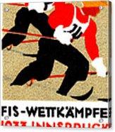 1933 Austrian Ski Race Poster Acrylic Print