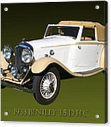 1933 Bentley 3  5  Liter Drop Head Coupe Acrylic Print