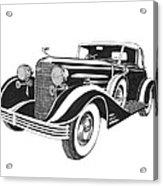 Cadillac Victoria V 16 Convertible Acrylic Print
