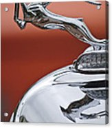 1933 Chrysler Cl Imperial Hood Ornament Acrylic Print