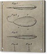 1933 Fish Lure Patent Acrylic Print