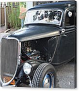1933 Ford Two Door Sedan Front And Side View Acrylic Print