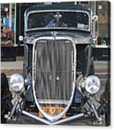 1933 Ford Two Door Sedan Front View Acrylic Print