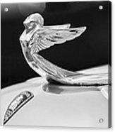 1933 Plymouth Hood Ornament -0121bw Acrylic Print