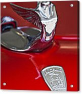 1933 Plymouth Hood Ornament Acrylic Print by Jill Reger