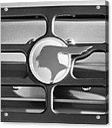 1933 Pontiac Emblem -0467bw Acrylic Print