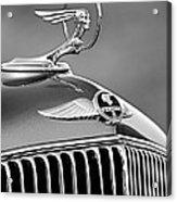 1933 Pontiac Hood Ornament - Emblem -0385bw Acrylic Print
