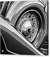 1933 Pontiac Spare Tire -0431bw Acrylic Print