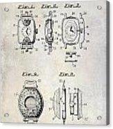 1933 Watch Case Patent Drawing  Acrylic Print