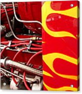Hot Rod Art Work And Engine Acrylic Print