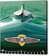 1934 Dodge Hood Ornament Emblem Acrylic Print by Jill Reger