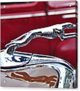 1934 Ford 6 Wheel Equip Hood Ornament Acrylic Print