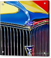 1934 Ford Deluxe Coupe Grille Emblems Acrylic Print