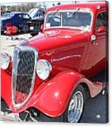 1934 Ford Greyhound Two Door Sedan Acrylic Print