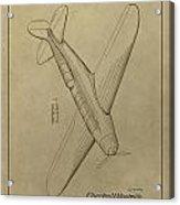 1934 Mail Plane Patent Acrylic Print