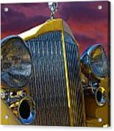 1934 Packard With Posterized Edge Texture Acrylic Print