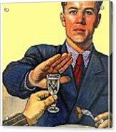 1935 - Soviet Union Anti Alcohol Propaganda Poster - Color Acrylic Print