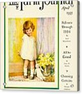 1935 - The National Farm Journal Magazine Cover April - Color Acrylic Print