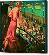 1935 Atlantic City Vintage Travel Art Acrylic Print
