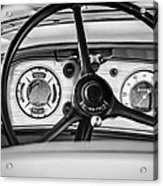 1935 Auburn 851 Supercharged Boattail Speedster Steering Wheel -0862bw Acrylic Print