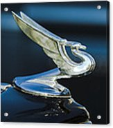 1935 Chevrolet Sedan Hood Ornament Acrylic Print by Jill Reger