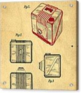 1935 Kodak Camera Casing Patent Acrylic Print